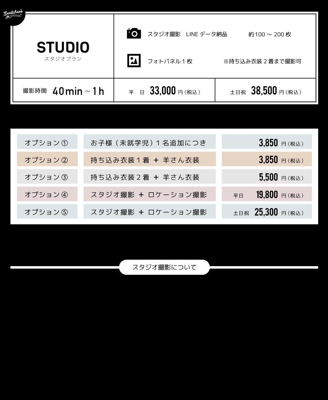スタジオプラン + ロケーション撮影